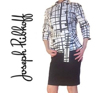 Joseph Ribkoff black & white jacket blazer, size 8